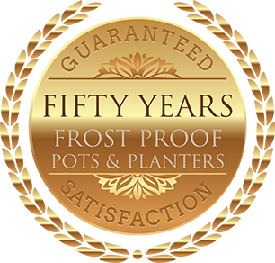 Fifty Years Frost Proof Terracotta Pots